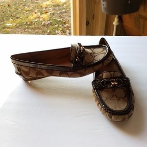 COACH FORTUNATA BROWN MOC LOAFERS SHOES